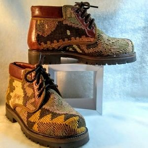 Tapestry booties